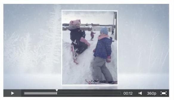 snowshoeing animoto