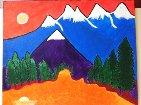 Student Artist: AMANDA V, Grade 11- Acrylic Fauvist Painting on Canvas