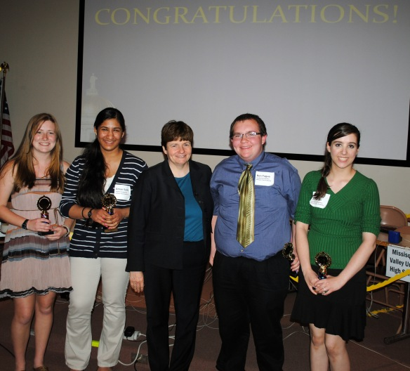 Second place winners with State Treasurer Beth Pearce