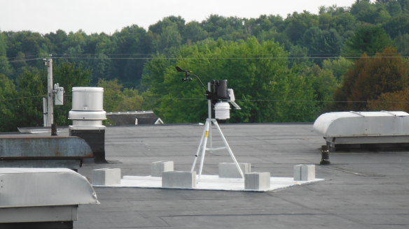 Davis Vantage Pro2 Wireless install on top of Bellows Free Academy.