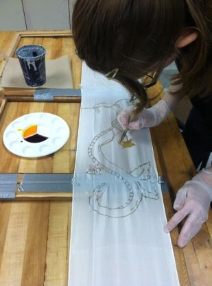Kaitlyn K (Grade 12) begins her design.