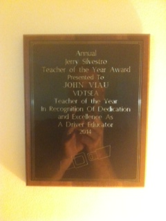 BFA Teacher John Viau recognized for excellence.