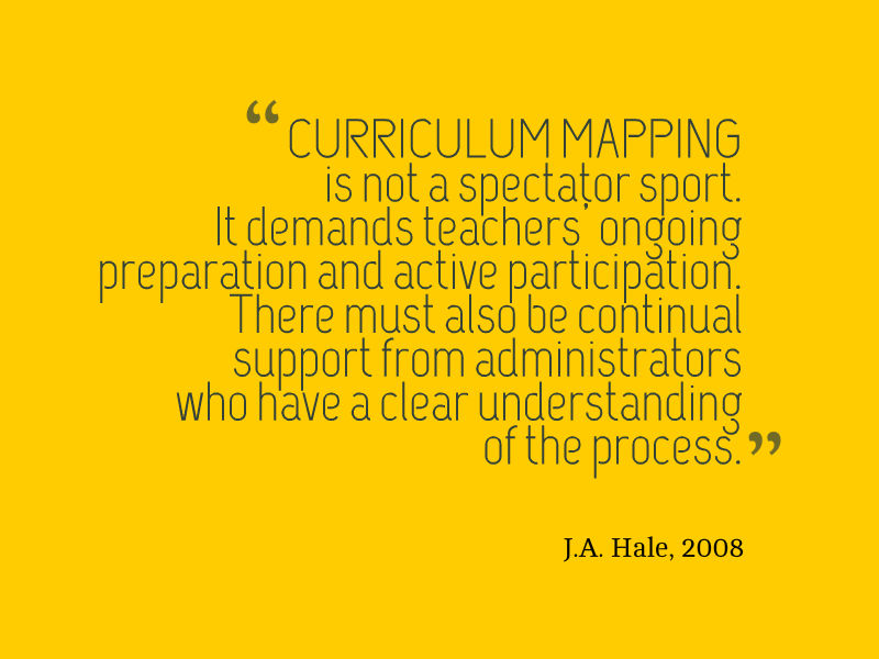 curriculum mapping quote