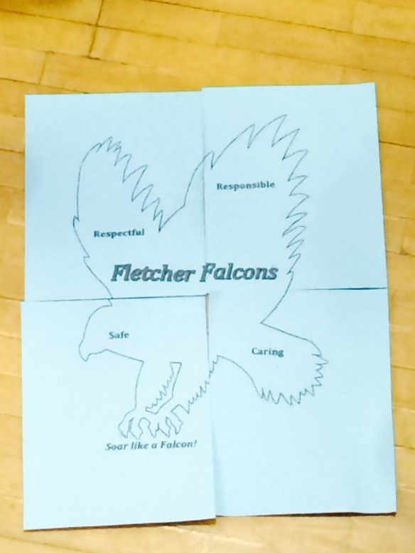 The falcon puzzle mentioned above.