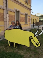 Nancy Hurt and Jennifer Blackman at Loris Malaguzzi International Children's Center in Reggio Emilia, Italy