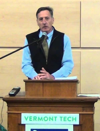 """(During introductions, VT Governor Peter Shumlin spoke about """"Vermont as a Climate Leader"""" - Photo courtesy of ActionCircles1)"""