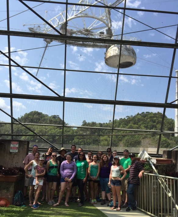 "BFA and Hartford HS students get a ""behind the scenes"" tour at the largest radio telescope in the world, Arecibo radio telescope located at Arecibo, PR."