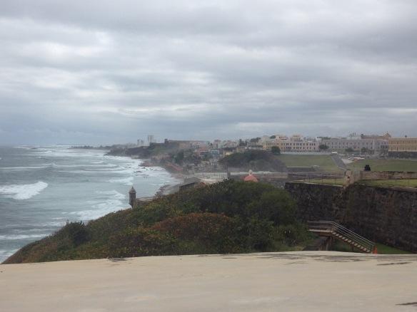 View east of the walled city of San Juan, PR from Fort San Juan, PR (est. 1530)