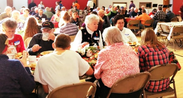 Senior citizens enjoyed the annual GEMS luncheon.