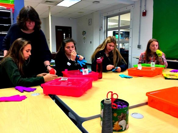 students explore e-textiles