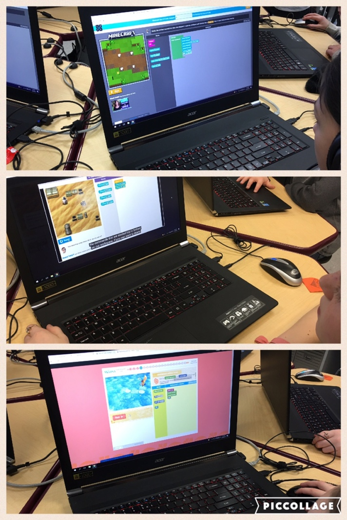 students code to solve authentic problems
