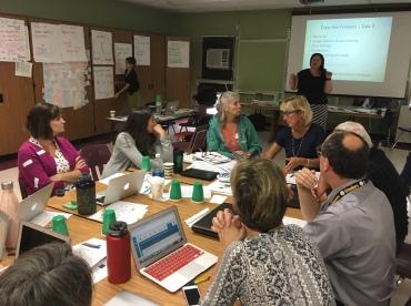 Educators collaborating at FWSU