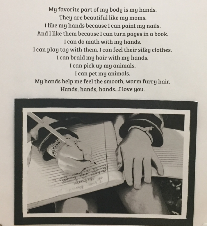 """A student captures how their hands are the """"best part."""""""