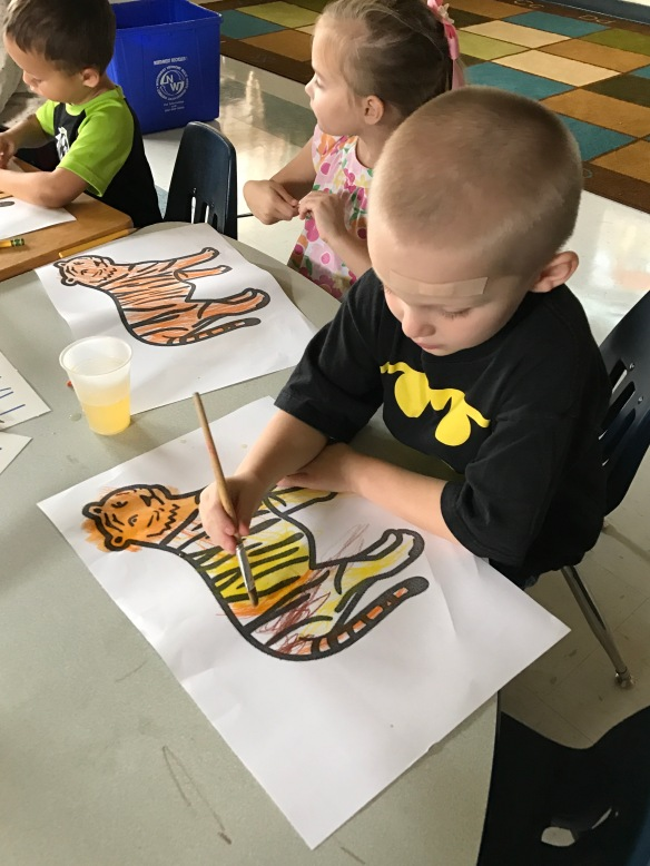 Students explore artwork by Henri Rousseau