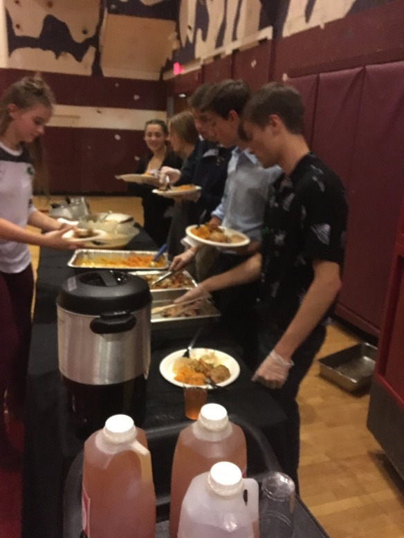 A delicious harvest meal was served up by students!