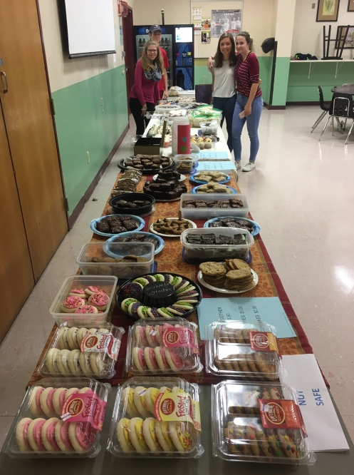 Baked goods donated for Puerto Rico hurricane victims.