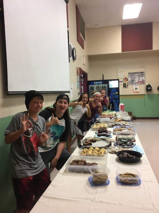 Students organize a bake sale.