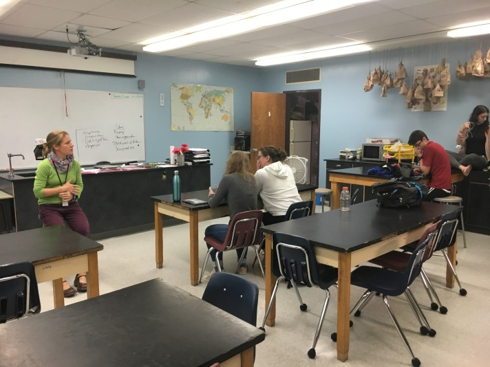 Students receive support of their teacher