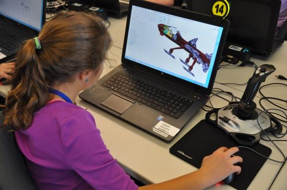 FES student at StarBase VT