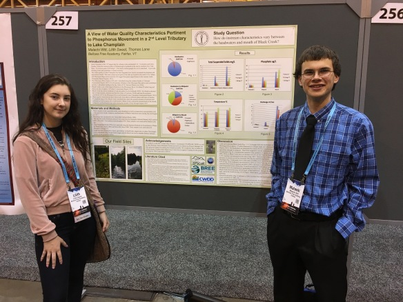 Lily Sweet and Malachi Witt at their poster in the Morial Convention Center in New Orleans, LA