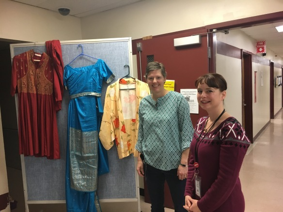 Clothing from around the world was on display at school.