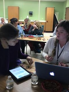 FWSU New Teachers discuss.