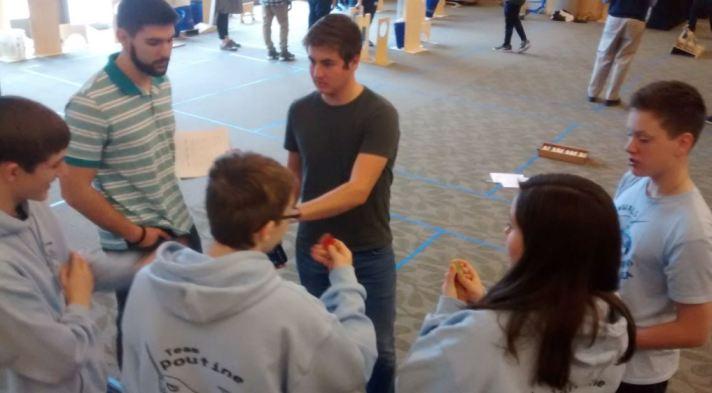 BFA Fairfax Team Poutine at the third annual K-12 Maker Faire & Engineering Challenge.