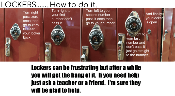 Getting comfortable with lockers just takes a bit of practice. Here are some instructions to get started.