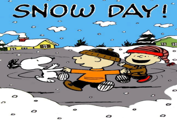 classic snow day schultz peanuts picture