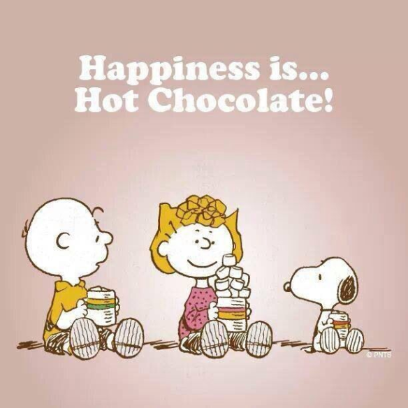 Happiness is hot chocolate!