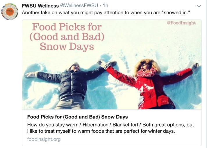 Food picks for good and bad snow days