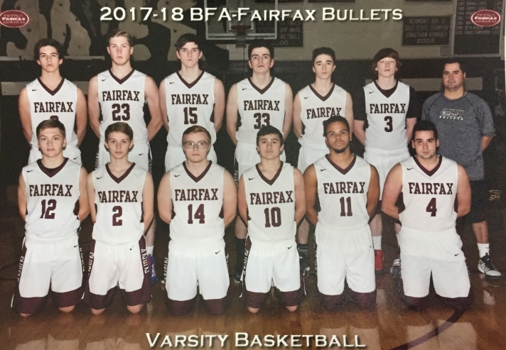 BFA Fairfax Bullets Varsity Basketball team