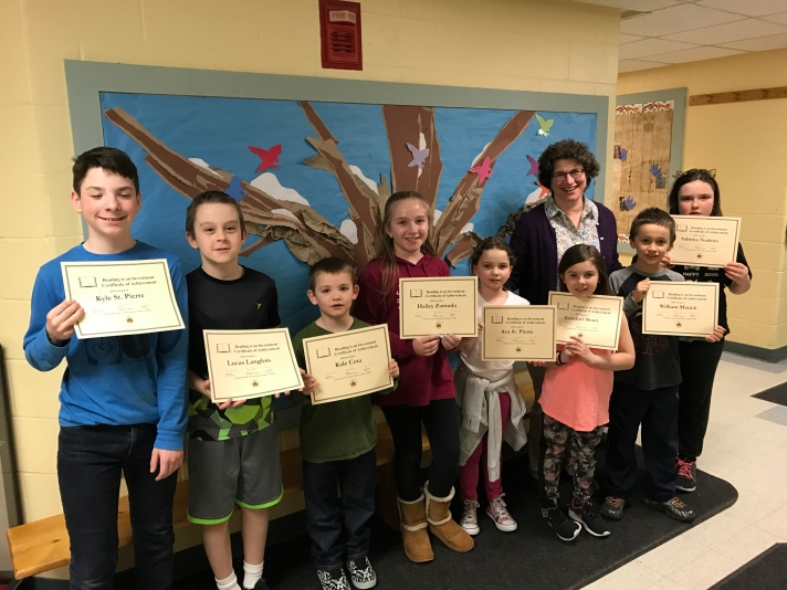 Each student received a certificate signed by State Treasurer Beth Pearce.