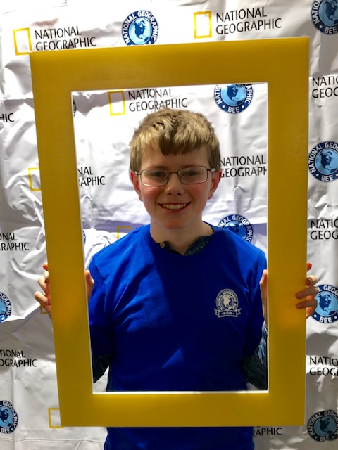 Wyeth at the State Geography Bee