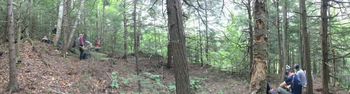 (Eastern boundary of Franklin County southeast of Bakersfield, VT.)