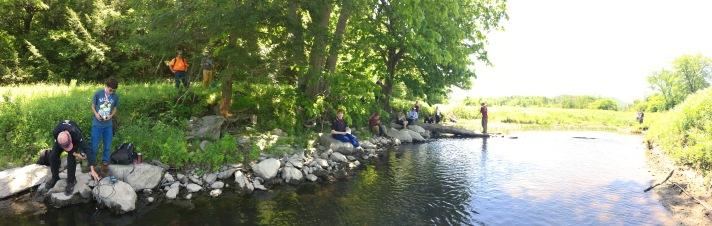 (Collecting data and having lunch at Black Creek south of E. Fairfield, VT.)