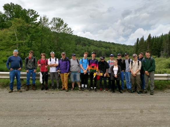 (Field Team at the start of Day 1.)