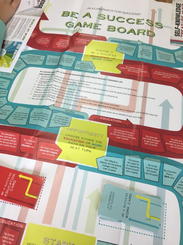 Students learned important financial literacy skills using a fun and interactive game.