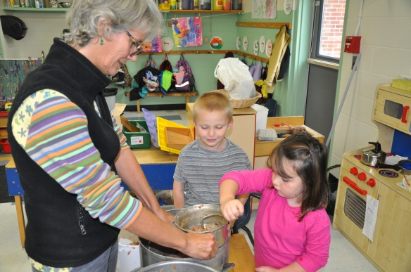 Students engage in many hands on learning activities in the classroom.