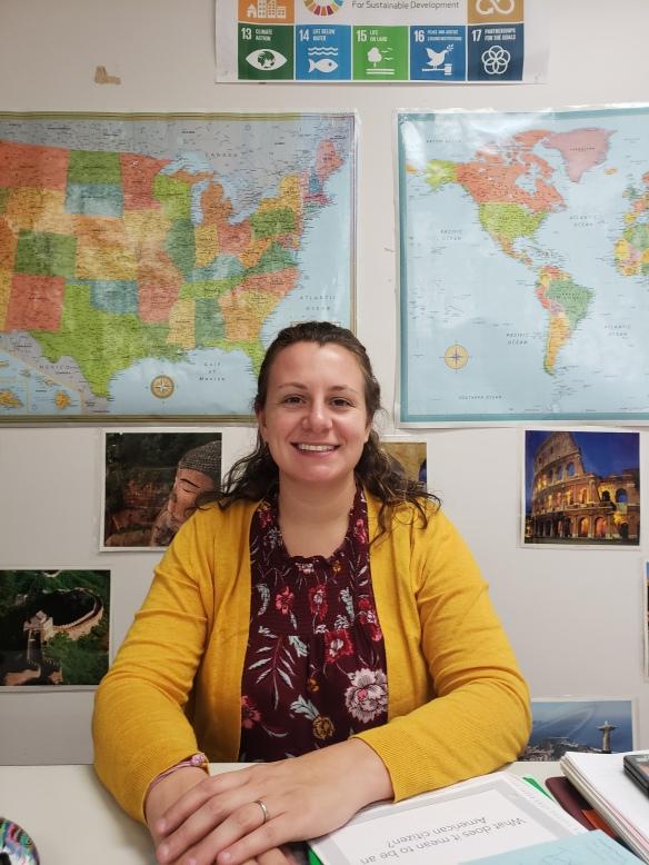 Liz Noonan in her classroom