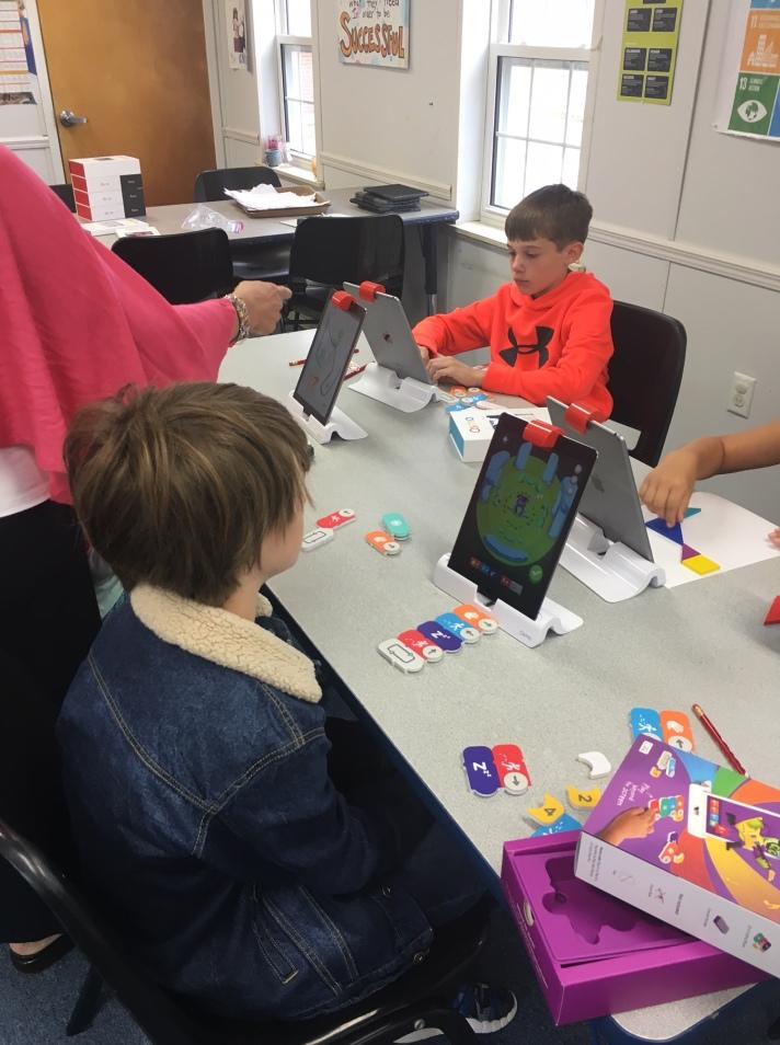 Students learn using helpful technologies