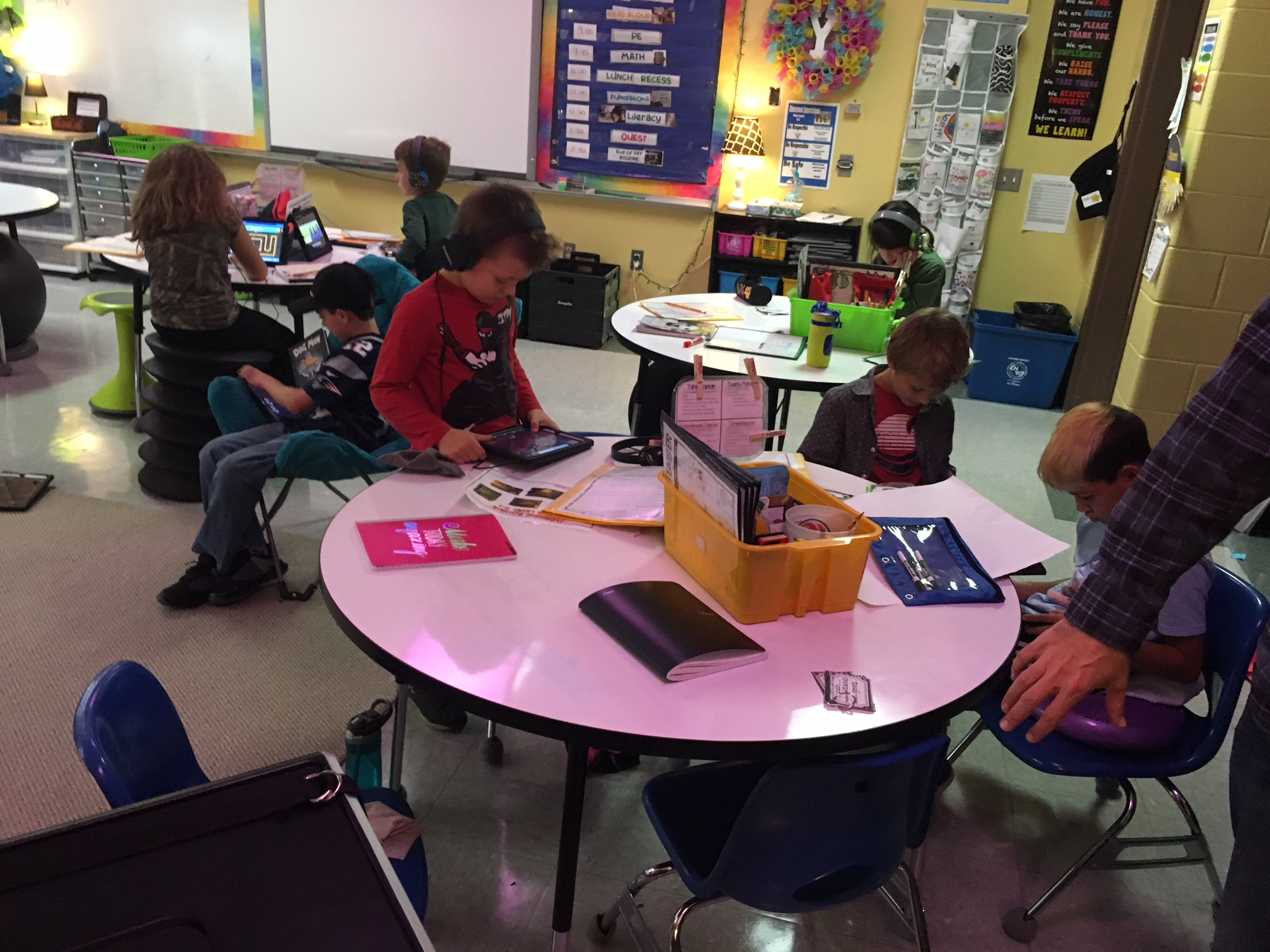 1:1 devices used by students for personalized learning