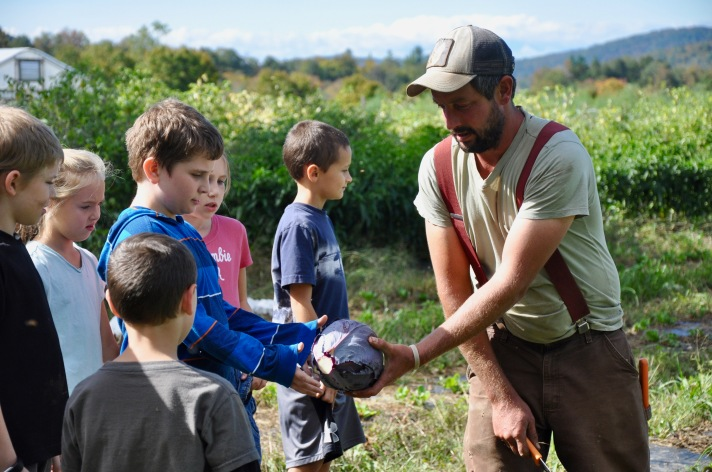 Fletcher Students harvest at the West Farm in Jeffersonville
