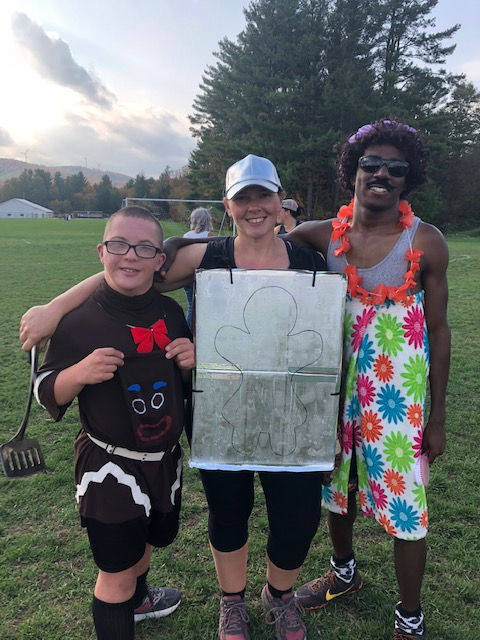 Students in costume run the BFA Fairfax Relays!