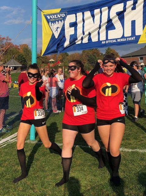 Students in costume run the BFA Fairfax Relays!